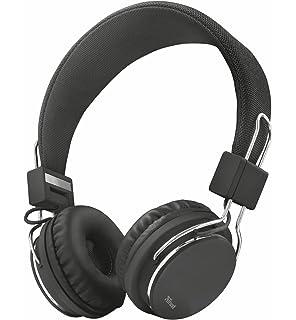 Trust Urban Ziva - Auriculares de Diadema Ajustable con micrófono Integrado, Color Negro