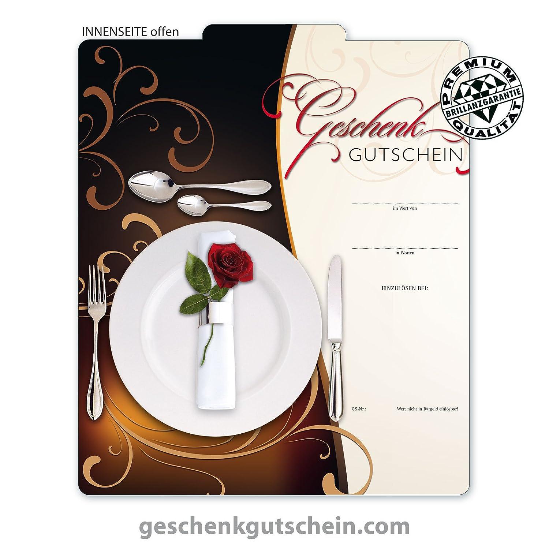 50 Stk. Premium Geschenkgutscheine Gutscheine zum Falten MultiFarbe  für Restaurants, Gasthäuser, Gaststätten G289, LIEFERZEIT 2 bis 4 Werktage  B00JE7VT50 | Großartig