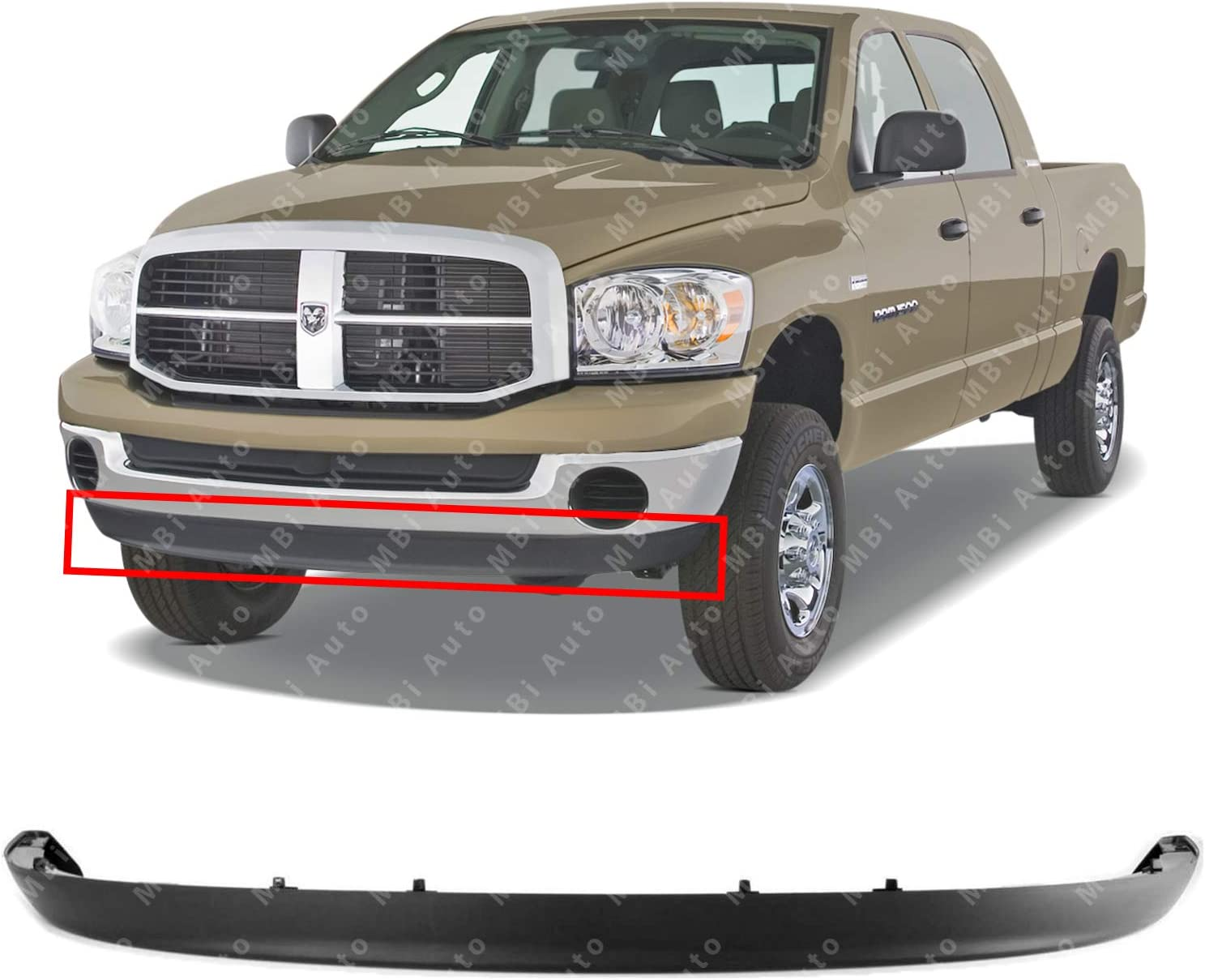 Molding For Dodge Ram 2500//3500 Bumper Trim 2002 New Body Style w//o Sport 55077342AB Step Pad CH1019101 Front