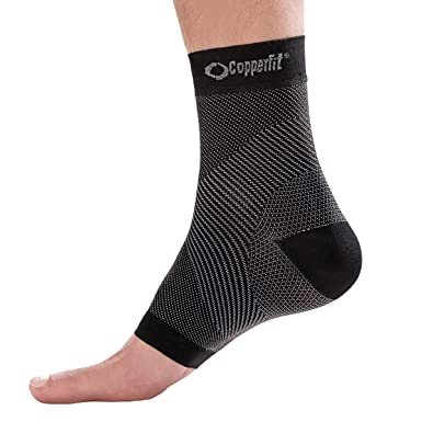 0da3d426d4 Amazon.com: Copper Fit Foot Relief Compression Ankle Sleeve: Clothing