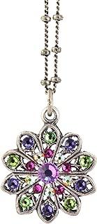 "product image for Anne Koplik Flower Pendant Necklace, Silver Plateds, 18"" NSG406MUL"
