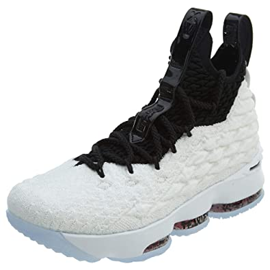 ba4344f67af81 ... real nike kids grade school lebron 15 basketball shoes 4 white black  ebb22 b54b6