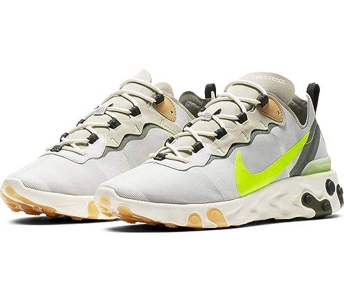 Nike React Element 55, Zapatillas de Atletismo para Hombre, Aura Spruce Fog/Barely