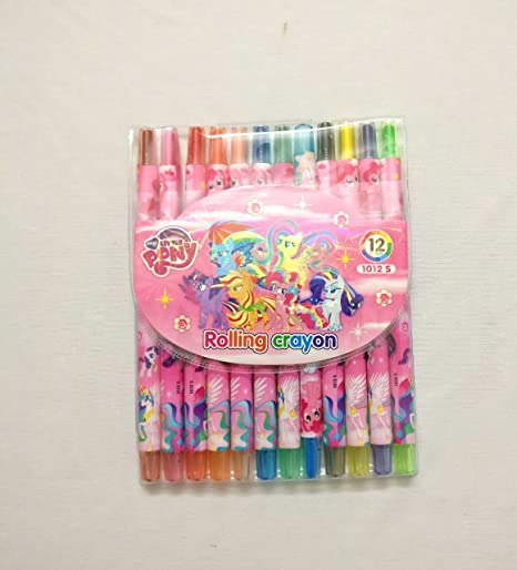 Shopkooky Colorful Pony Twistup Rolling Crayons Pen For Kids Stylish And Attractive Perfect Gifting Purpose