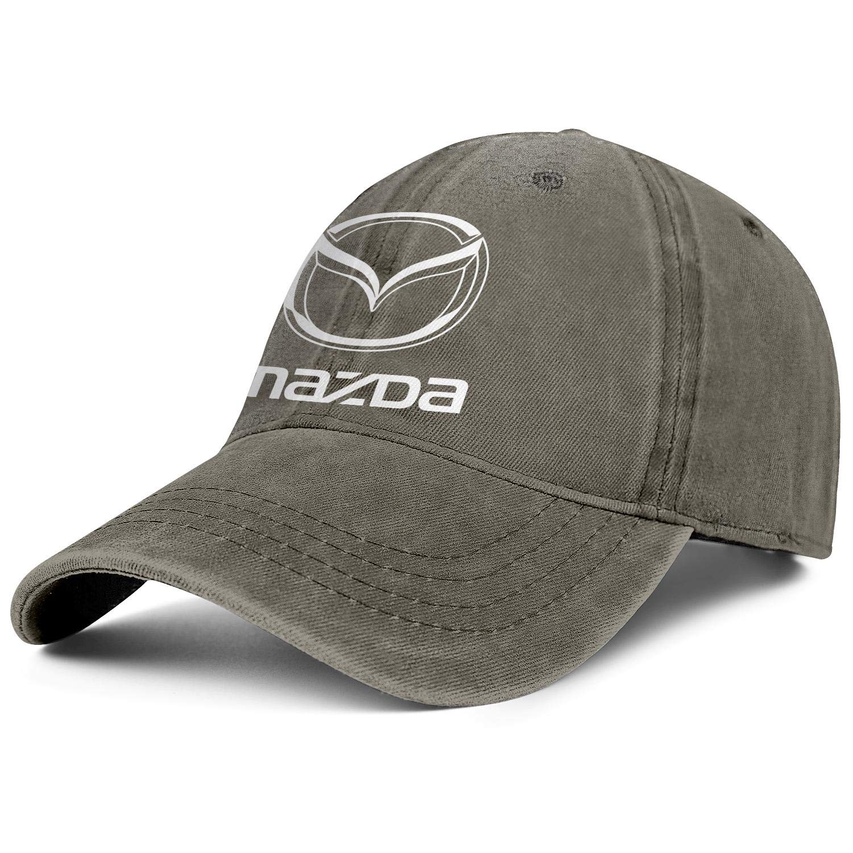 Printed Denim Hat Snapback Womens Men Dad Caps Mazda-Logo
