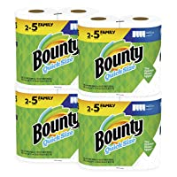 Deals on Bounty Quick-Size Paper Towels 8 Family Rolls