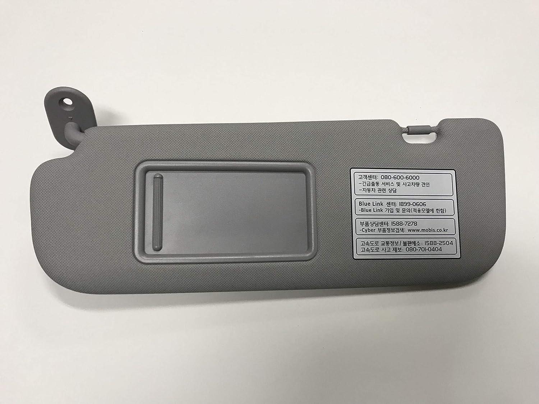 Hyundai Motors OEM Genuine 852103X000TX Gray Driver Left Inside Sun Visor 1-pc For 2011 ~ 2014 Hyundai Elantra : Avante MD 201225516382 AMHM0420