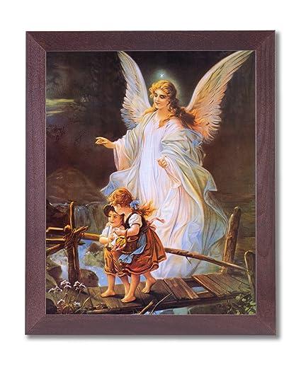 Amazoncom Guardian Angel With Children On Bridge Religious Picture
