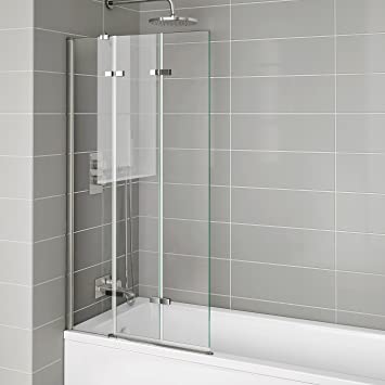 800mm Luxury Folding Bath Shower Glass Screen Pivot Door Panel   Left Hand Part 94