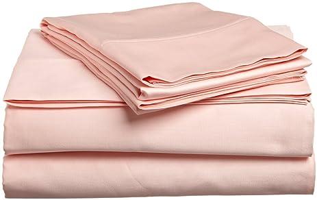 300 thread count blush queen size sheet set