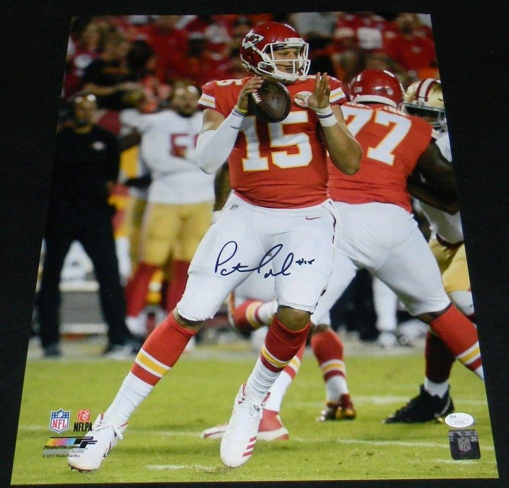 Signed Patrick Mahomes Photo 16x20 JSA Certified Autographed NFL Photos