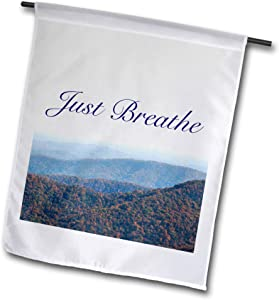 3dRose Just Breathe Written on The Blue Ridge Mountain of North Carolina. - Flags (fl_337000_1)