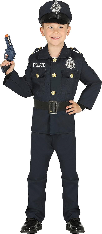 Guirca- Disfraz policía, Talla 5-6 años (87456.0)