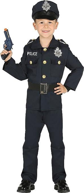 Guirca- Disfraz policía, Talla 3-4 años (87455.0): Amazon.es ...
