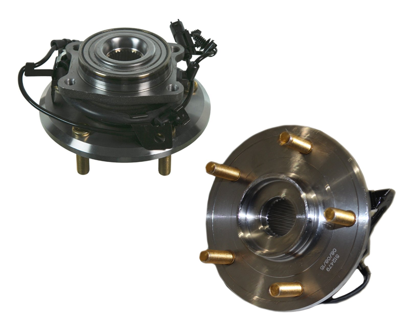 Detroit Axle - (2) REAR Wheel Bearing and Hub Assembly Set fits Driver and Passenger Side for 2009-2015 Dodge Journey - [2014 ProMaster 1500] - 2014-2015 ProMaster 2500/3500