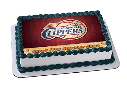 Los Angeles Clippers Basketball Edible Image Cake Topper Personalized Icing Sugar Paper A4 Sheet Frosting