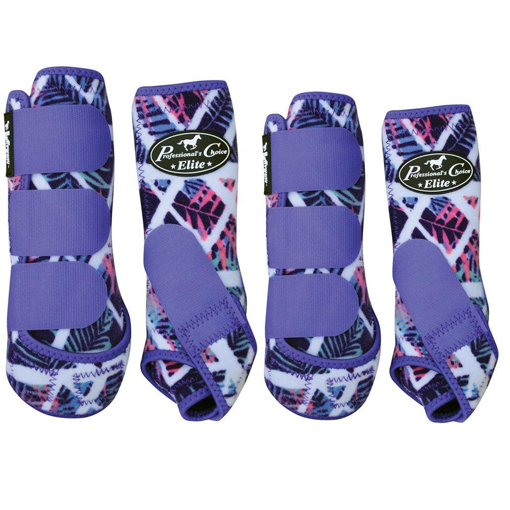 Professional's Choice Equine Sports Medicine Ventech Elite Leg Boot Value Pack, Set of 4 B079HZQ5MX Medium|Tropical