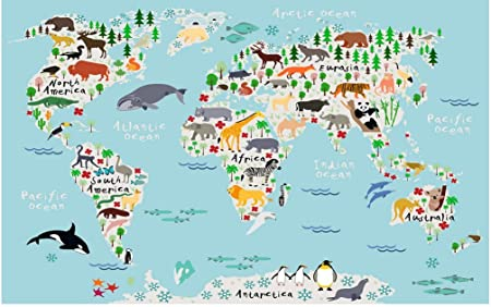 Childrens world map photo wallpaper cartoon world map mural wall childrens world map photo wallpaper cartoon world map mural wall decoration bz991 300cm wide x240cm high gumiabroncs Image collections