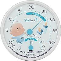GEMlead婴儿房温湿度计TH101A(白边)(亚马逊自营商品, 由供应商配送)