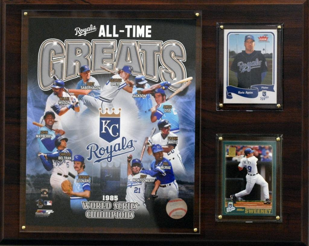 C/&I Collectables MLB Kansas City Royals 12x15-Inch All Time Greats Photo Plaque