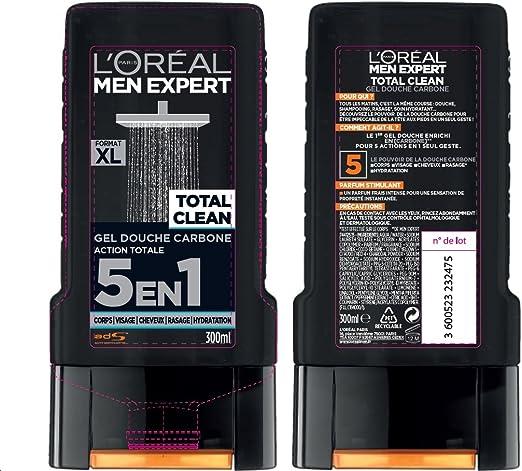 LOréal Men Expert Total Clean Gel de Ducha 5 en 1 Men 300 ml - juego de 3: Amazon.es: Belleza