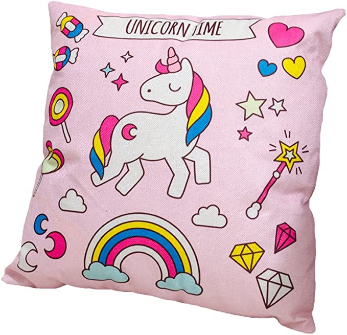 CHENPU Colorful Unicorn Shape Pillow