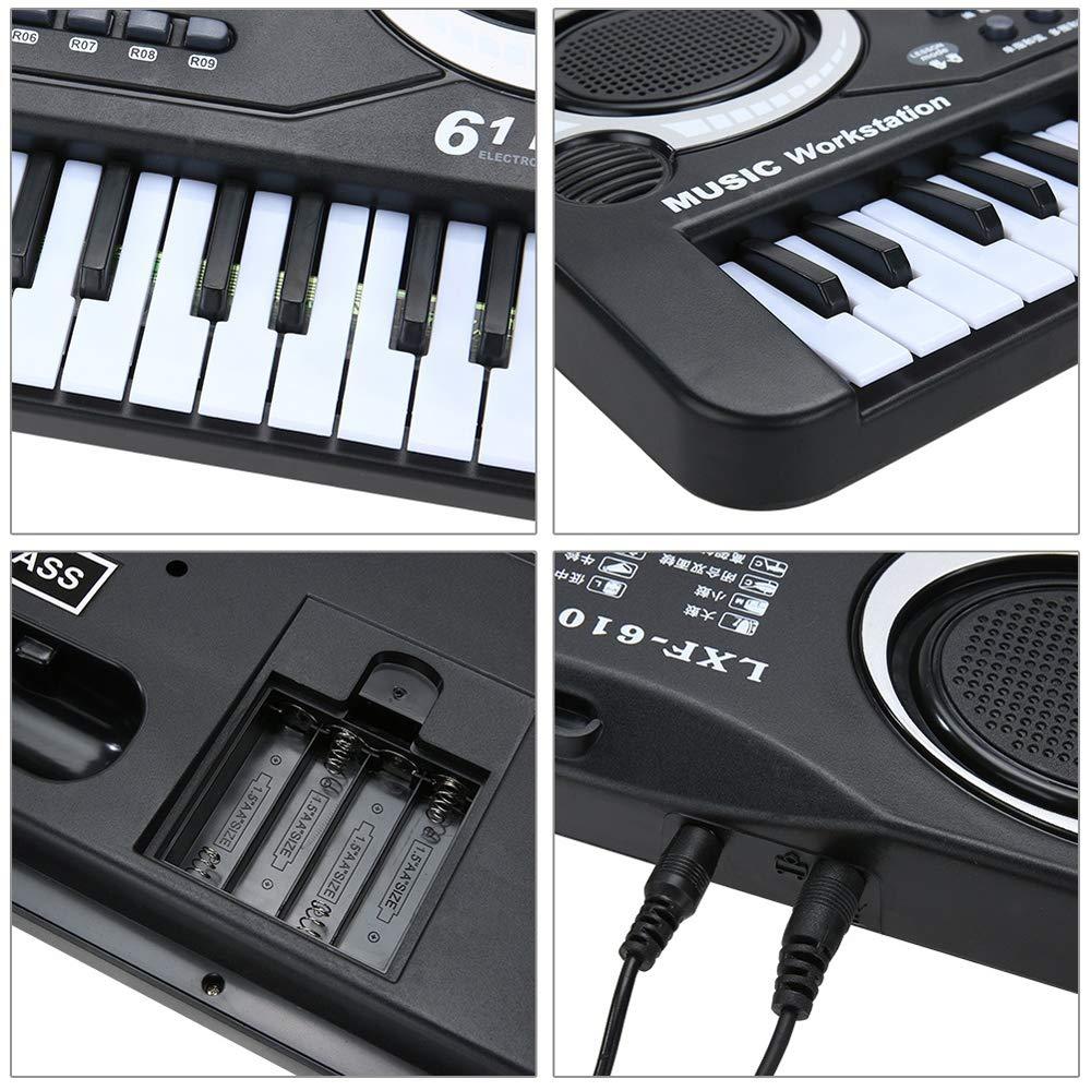 Muslady 61 Keys Black Digital Music Electronic Keyboard Key Board Electric Piano Kids Gift Musical Instrument by Muslady (Image #3)