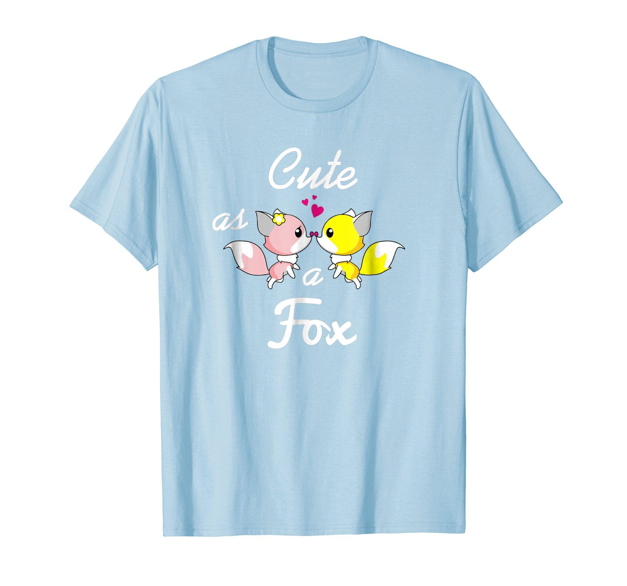 Cute Fox T-Shirt Love Foxes Pink and Yellow Fox Shirt