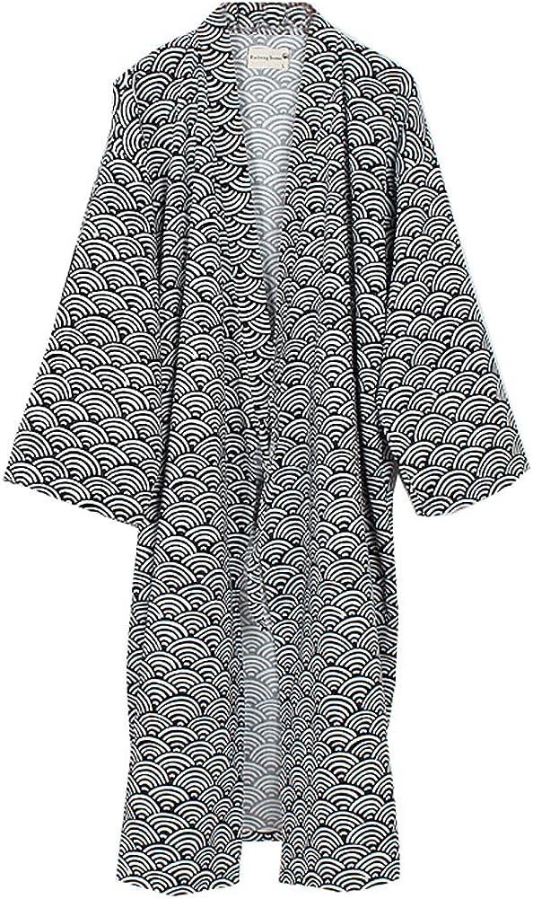 Hombres yukata Robes Kimono Robe Khan Vaporos Ropa Pijamas # 04