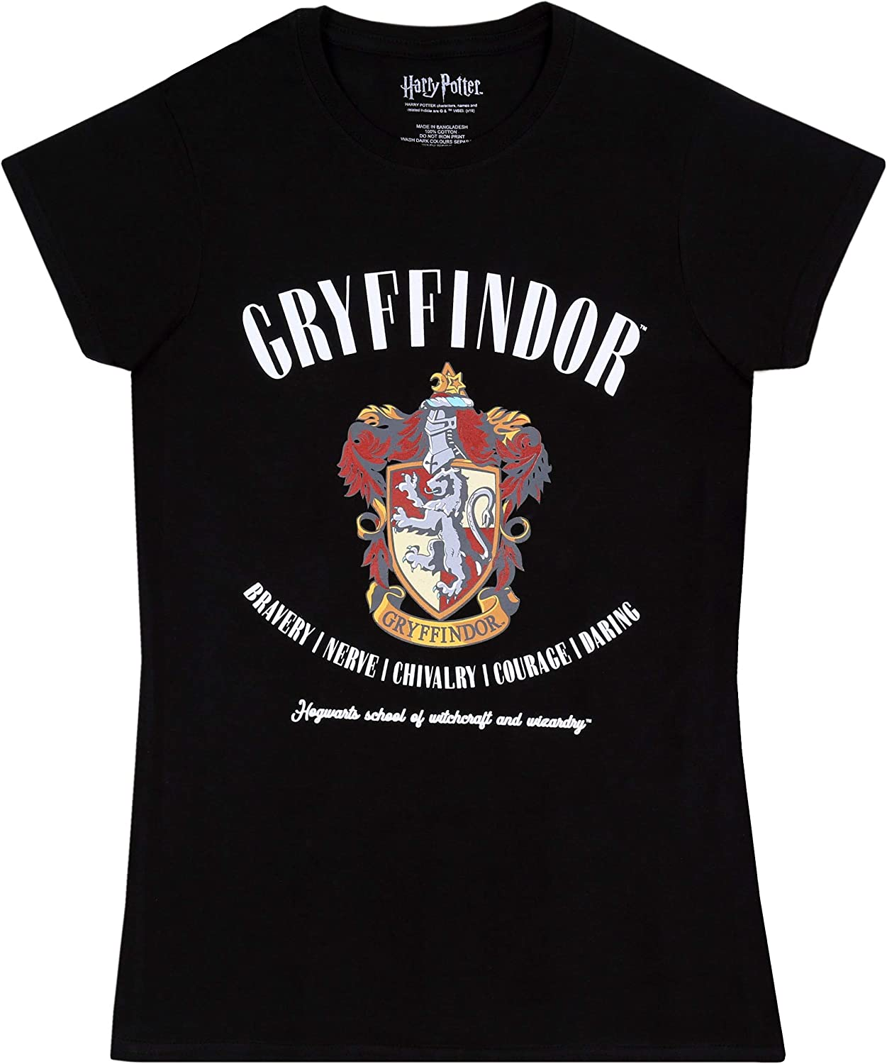 Gryffindor -:- Harry Potter -:- Camiseta Negra, t-Shirt: Amazon.es: Ropa y accesorios