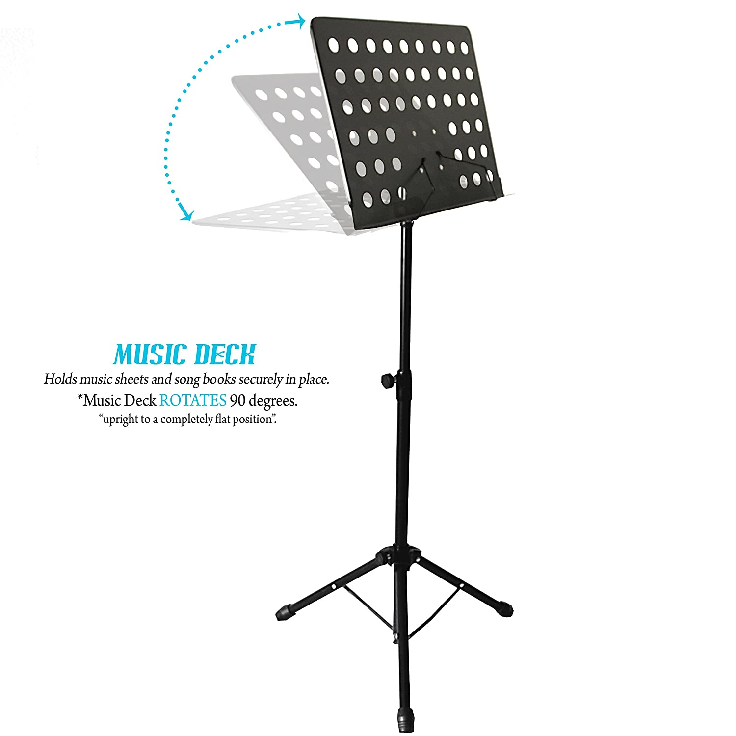 kruzco portable music stand for sheet holder black