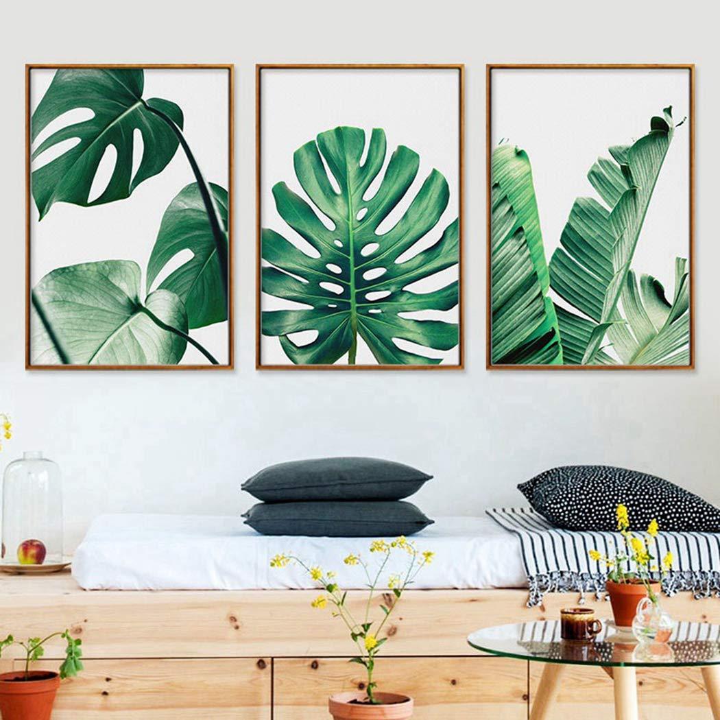 JUSTDOLIFE 3 PI/ÈCES Peinture Murale Ensemble Feuilles Suspendues Photos Murales pour La D/écoration Murale