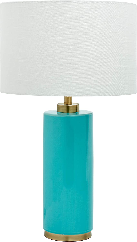 "Amazon Brand – Rivet Modern Table Lamp, 22""H, Teal"