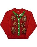 Star Wars Mens Red Vader Yoda Boba Fett Gingerbread Man Christmas Sweatshirt