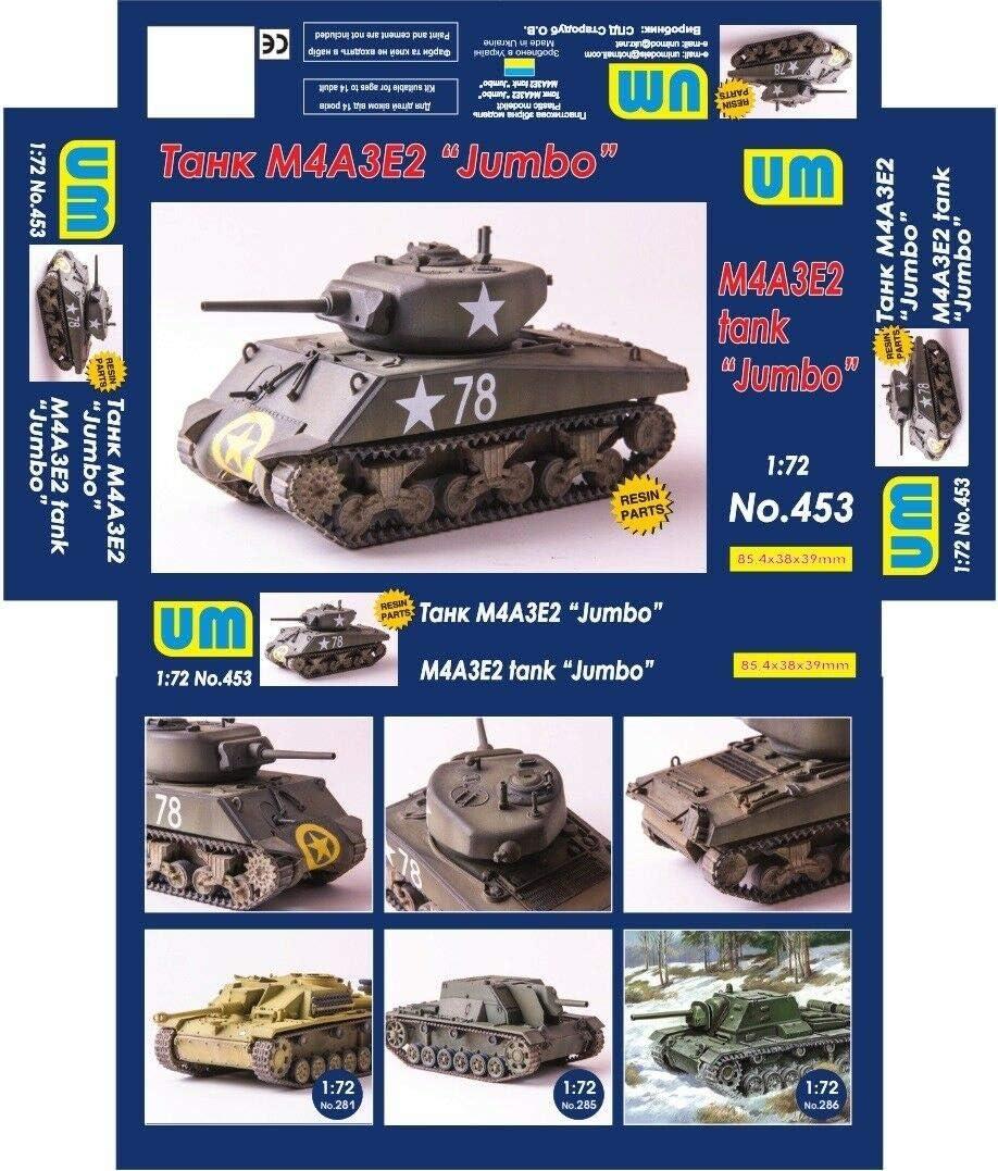 "Unimodel 453-1//72 M4A3E2 tank /""Jumbo/"" Танк M4A3E2 /""Jumbo/"" UM 453"