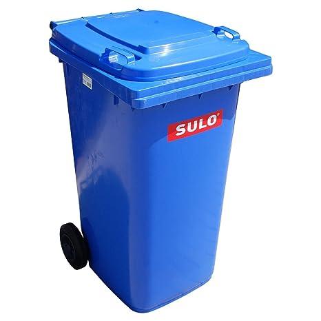 Cubo de basura 2 ruedas, contenedor a basura SULO 80 litros, azul(22123