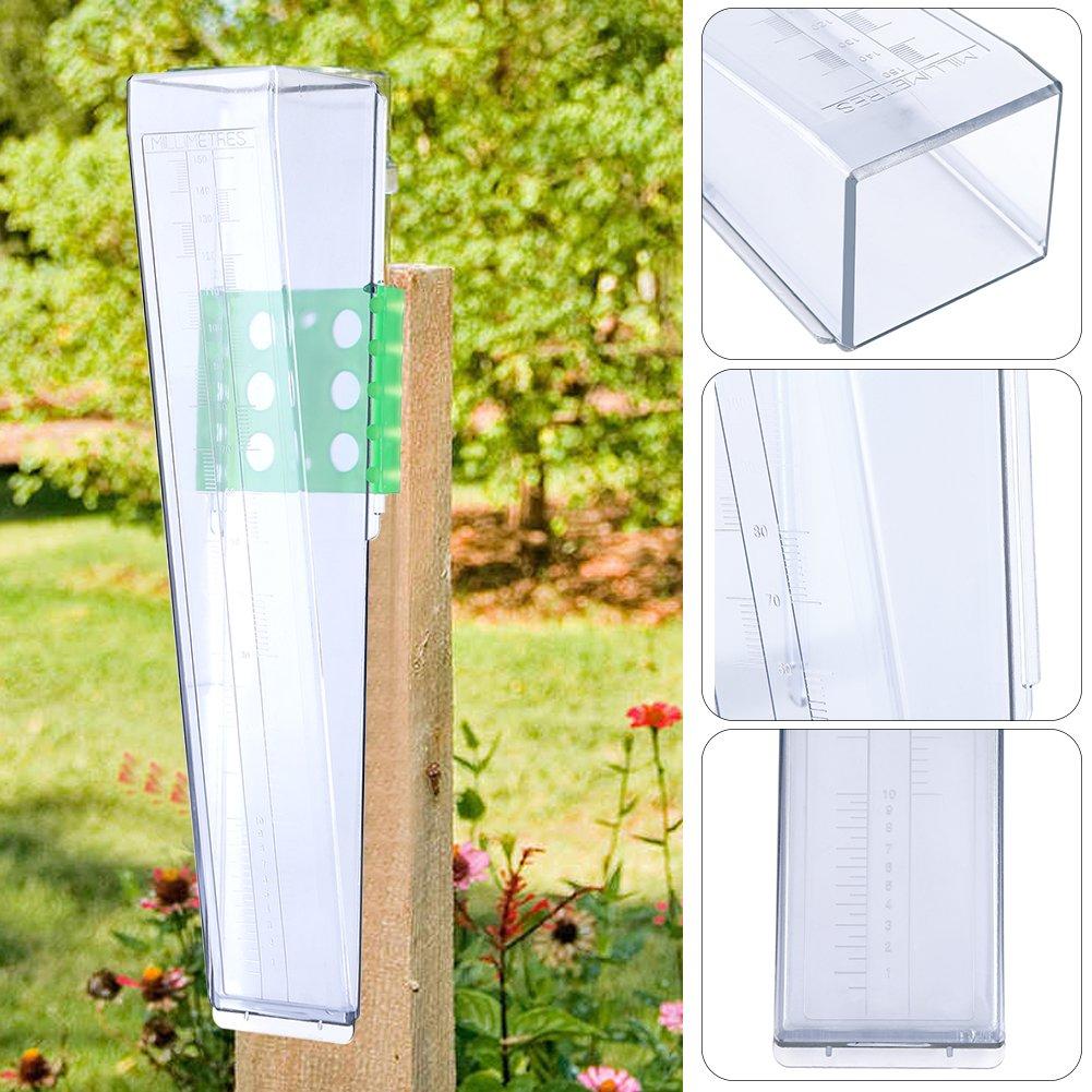GOTOTOP Wasser Regenmesser Regen Messgerät Kunststoff für Garten Farm Yard (leiterförmig)