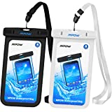 (3 Black,White) - Mpow Universal Waterproof Case, IPX8 Waterproof Phone Pouch Dry Bag for iPhone7/7plus/6s/6/6s plus Samsung galaxy s8/s7 LG V20 Google Pixel HTC10 (Black,White 2-Pack)