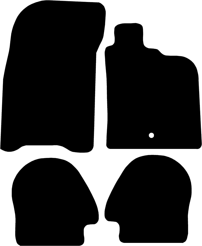 Premium 1982-1991 Black with Black Trim Connected Essentials CEM650 Car Mat Set for 944