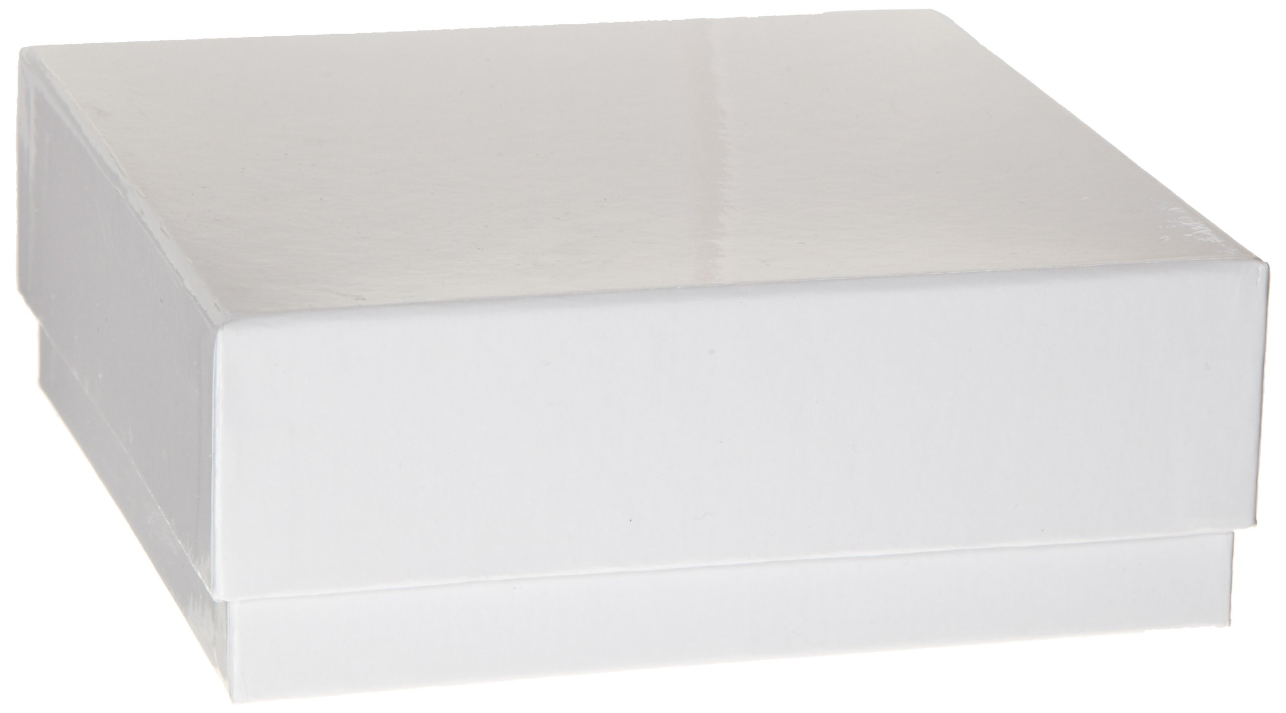 Heathrow Scientific HD2860B White Cardboard Cryovial Box with Lid, 75mm Height (Pack of 12)
