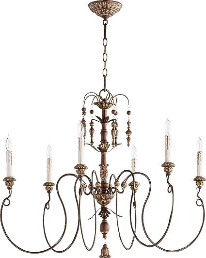 Amazon quorum lighting 6006 6 39 salento 1 tier chandelier quorum lighting 6006 6 39 salento 1 tier chandelier lighting 6lt aloadofball Gallery