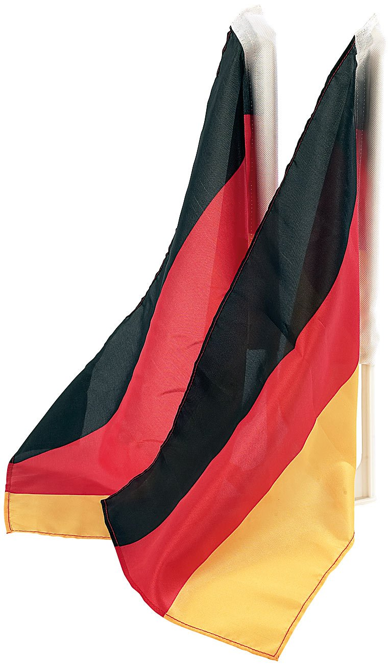PEARL Deutschlandflagge: Autofahnen-Set Deutschland, 2er-Set (Deutschland Fahne Auto)