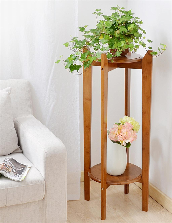 Bambus Wohnzimmer Flower Stand Blumen-Rack-European Creative Multi ...