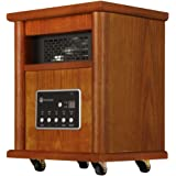 Homegear 1500 SqFt Infrared Electric Portable Space Heater Brown +Remote Control