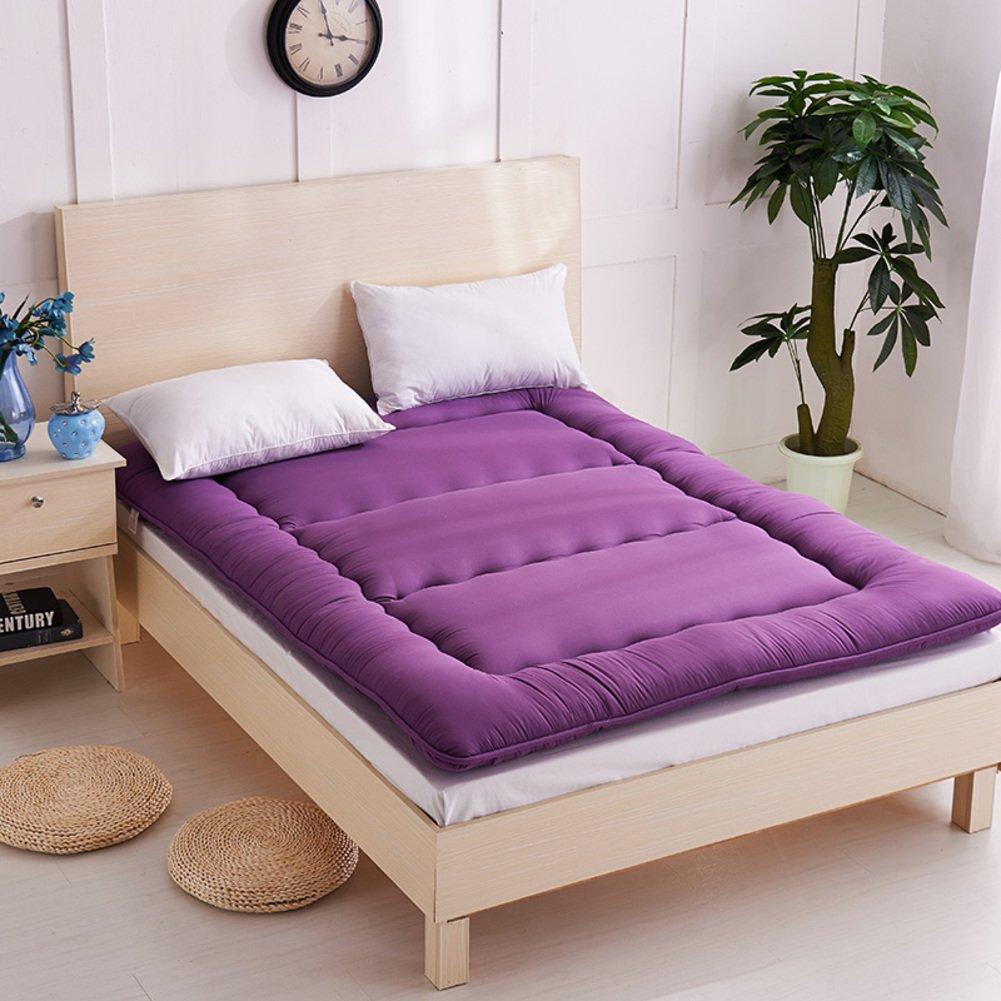 Love Home Tatami Fußmatratze, japanische Vierjahreszeiten, atmungsaktiv, Studenten-Schlafmatratze, Schlafmatte, Schaumstoff, violett, 150x200cm(59x79inch)