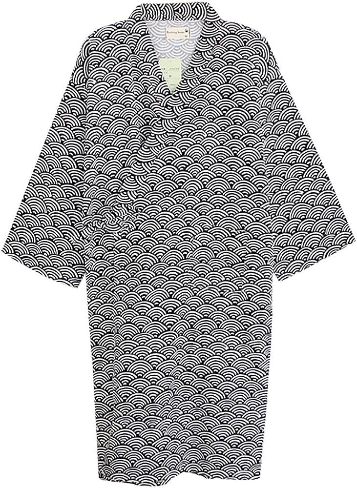 Camisón Kimono Vestido de Hombre Mujer Ropa de Dormir Manga de ...
