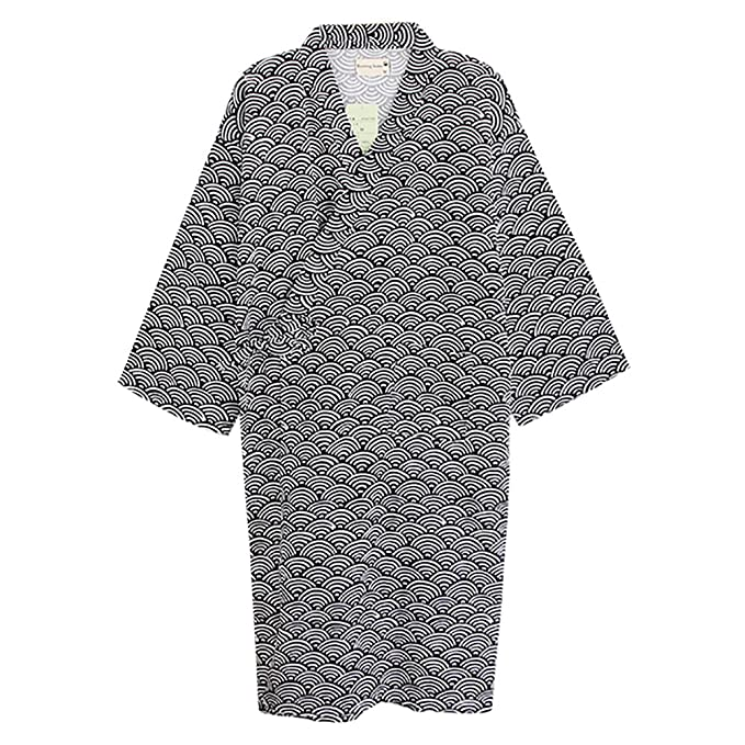 c1ce668208 Cotton Kimono Robe Wrap Women Men Bathrobe Dressing Gown Pajamas Yukata  Nightdress Loose Comfy Sleepwear Bath