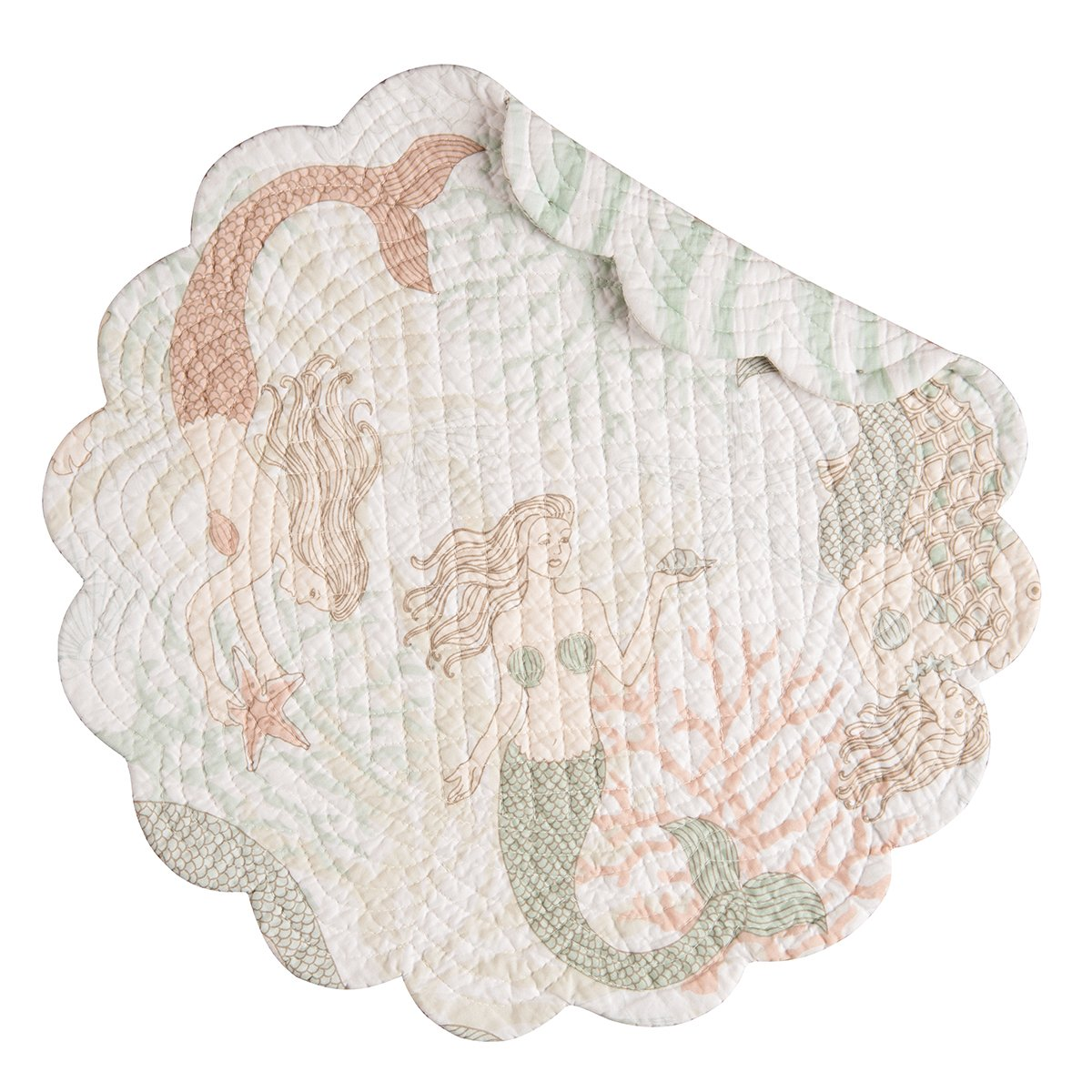 17 Round Quilted Placemat Mystic Echoes 17 Round Quilted Placemat C/&F Set of 4 PCS