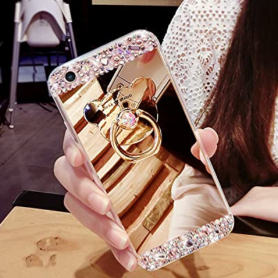 Coque Galaxy S3 Miroir, Galaxy S3 Coque Brillante, SainCat Ultra Slim TPU Silicone Case pour Samsung Galaxy S3, Bling Bling Glitter Strass Diamant Anti-Scratch Soft Gel Silicone 3D Transparent Silicone Case Anti Choc Shell co
