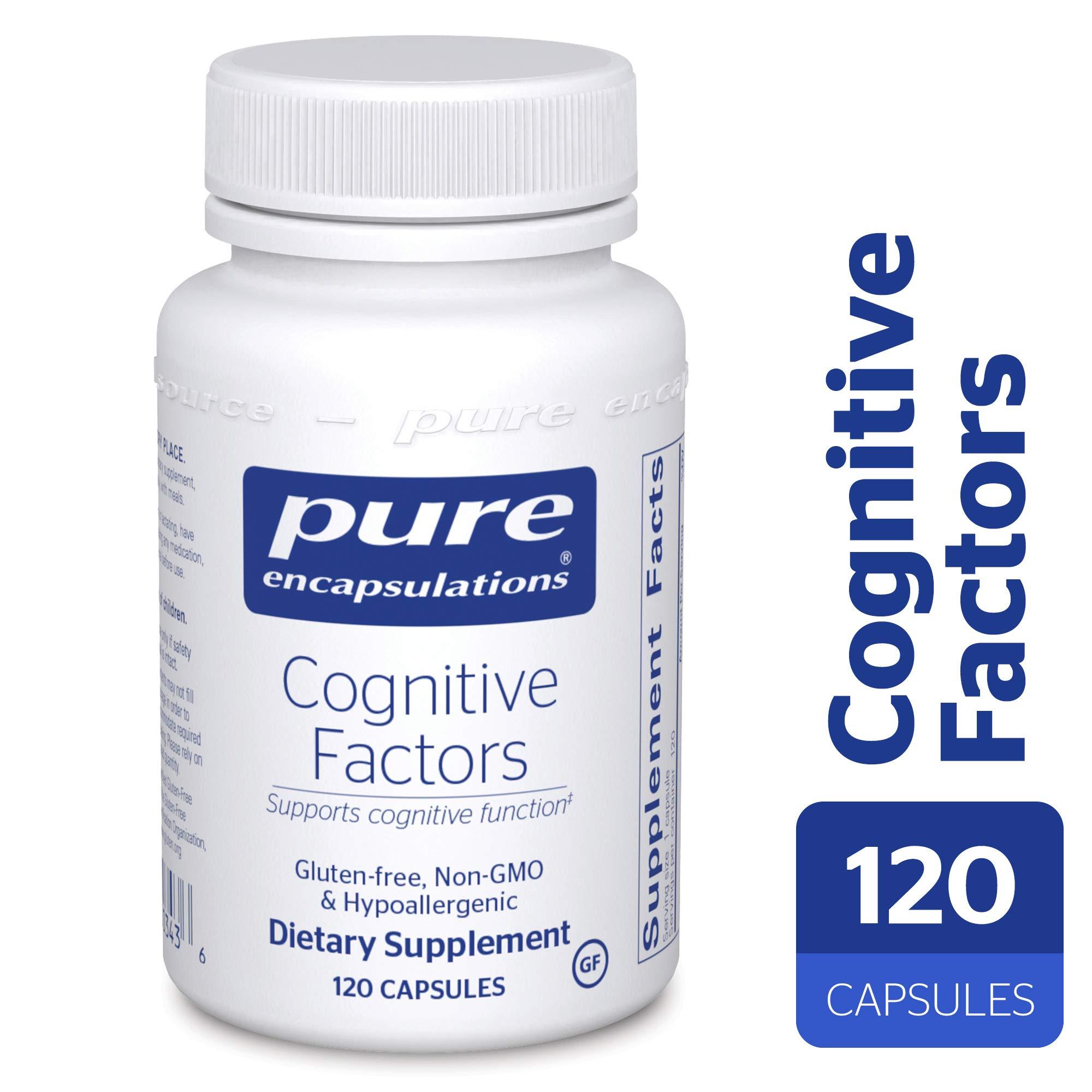 Pure Encapsulations - Cognitive Factors - Hypoallergenic Supplement for Cognitive Function Support* - 120 Capsules